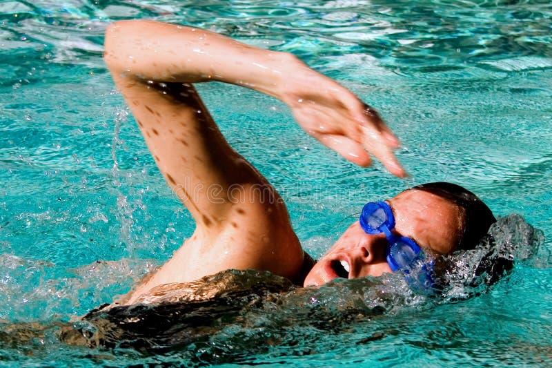 女性游泳者 免版税库存图片