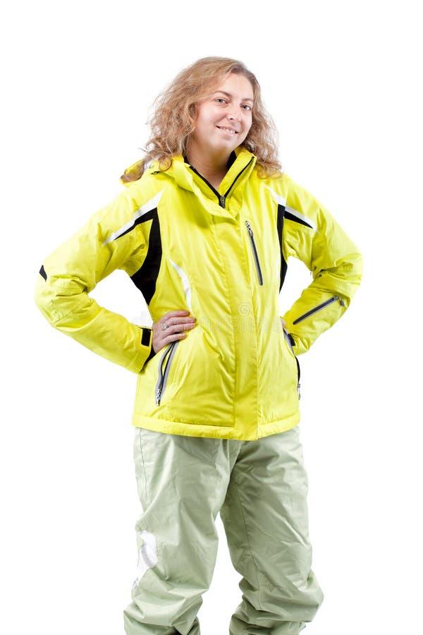 女性滑雪者 免版税库存图片
