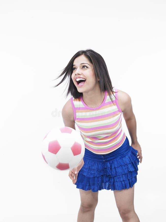 女性球员soccor 免版税库存图片