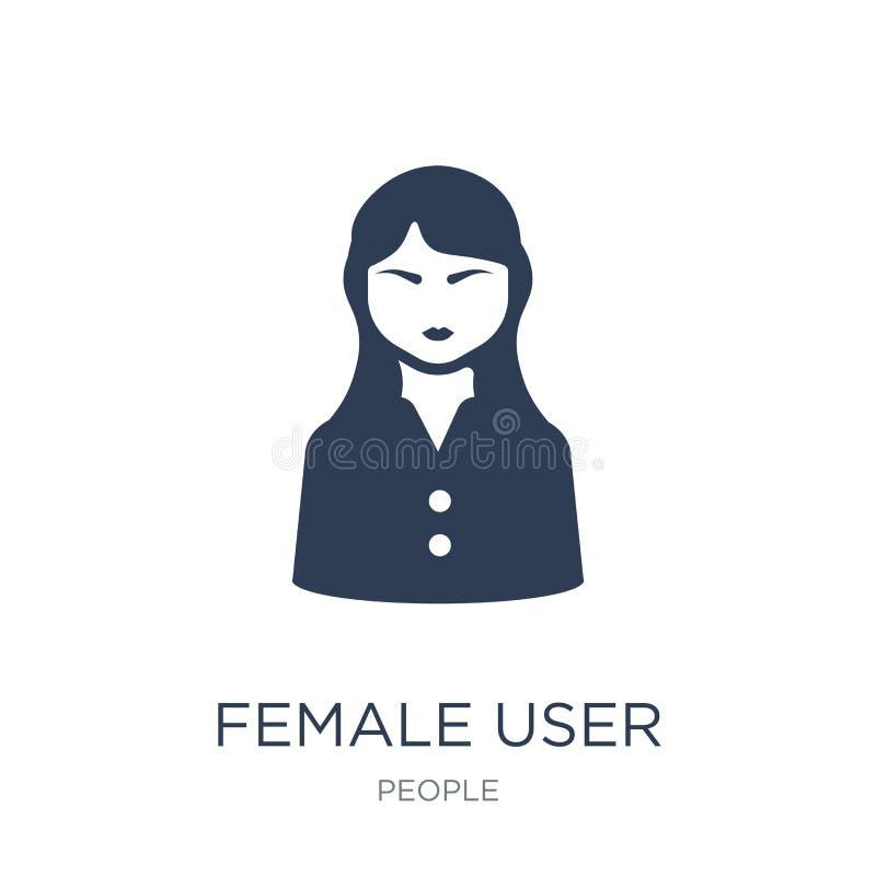 女性用户管理象 时髦平的传染媒介女性用户马娜 向量例证