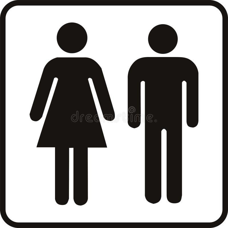 女性男 库存例证