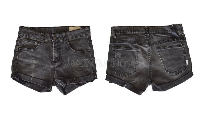 女性的牛仔布短裤 库存图片