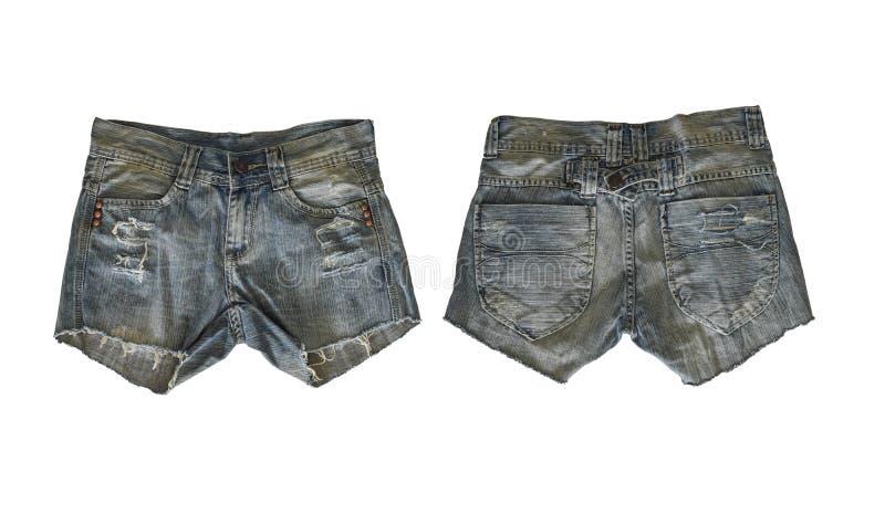 女性的牛仔布短裤 库存照片