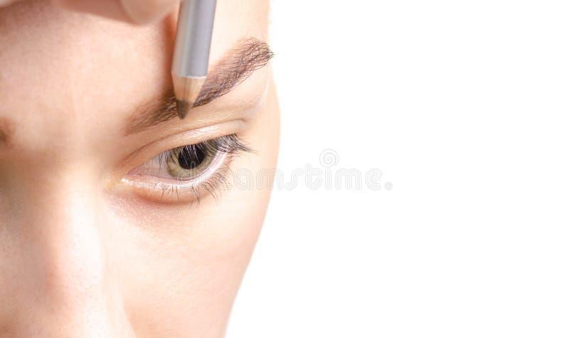 女性眼眉形状褐色眼睛眉笔 库存照片