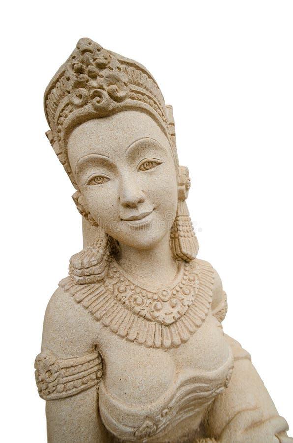 女性石头雕刻 库存照片
