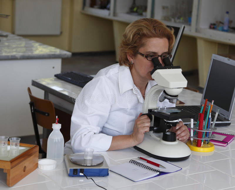 女性研究员 库存照片