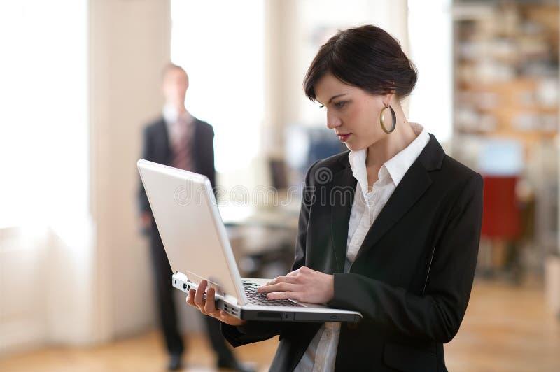 女性笔记本 库存照片
