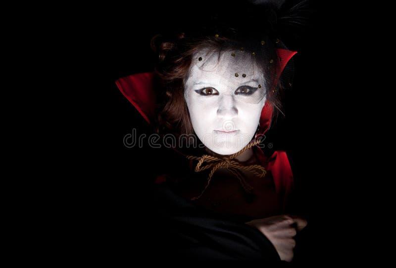 女性纵向吸血鬼 库存照片