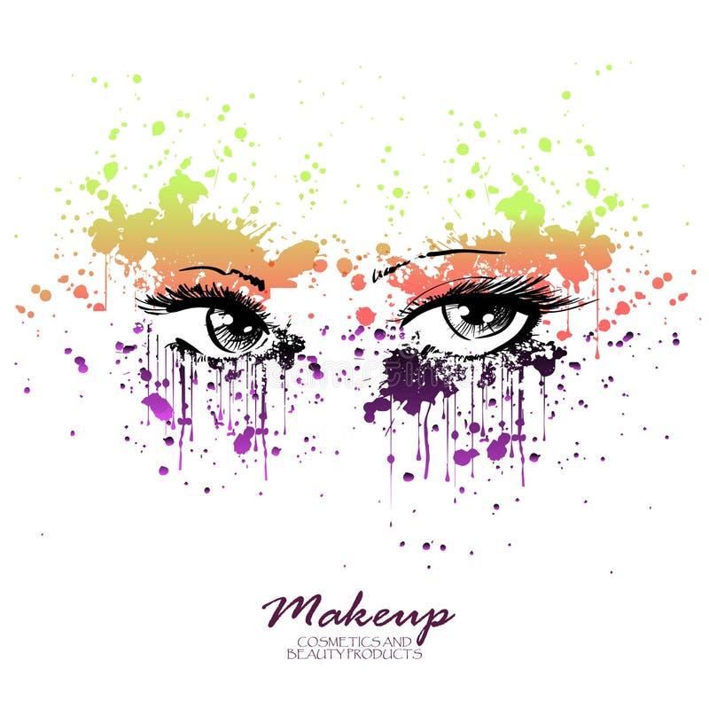 女性美丽的眼睛 库存例证