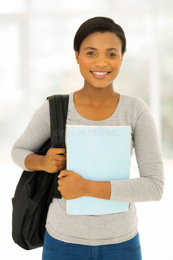 女性美国黑人的学生 库存照片