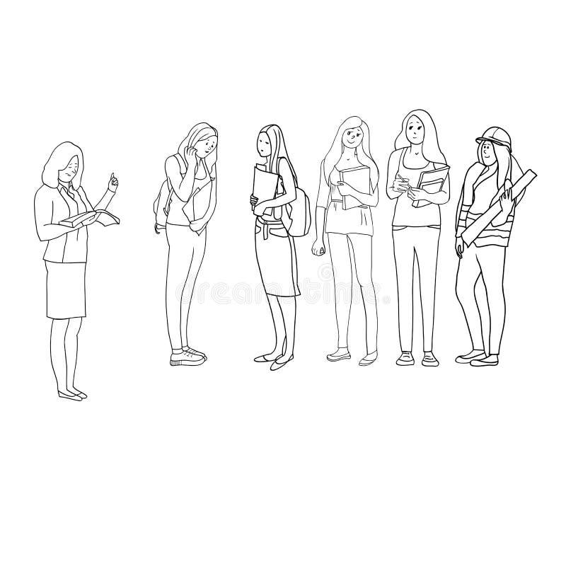 女性行业 皇族释放例证