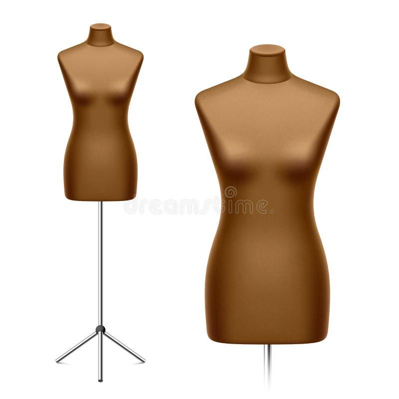 女性裁缝的钝汉,时装模特 皇族释放例证