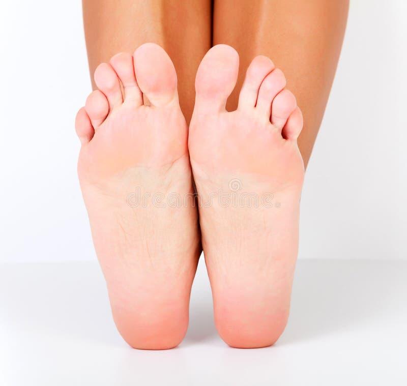 女性赤脚 库存照片