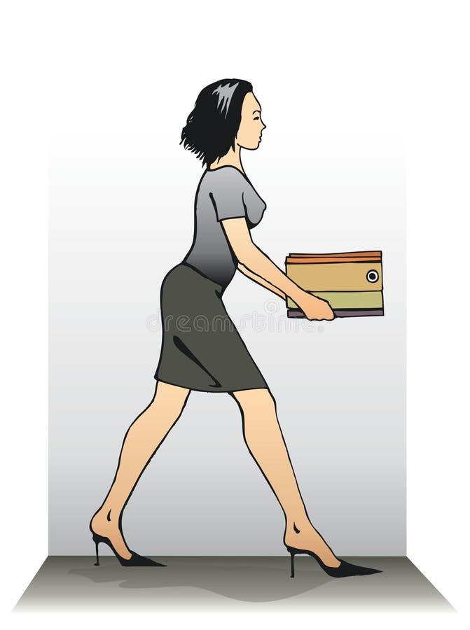 女性赶紧的秘书 图库摄影