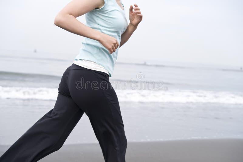 女性跑步 免版税库存图片