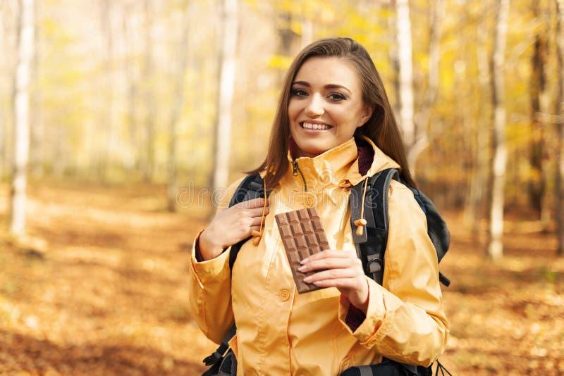 女性远足者 免版税库存图片