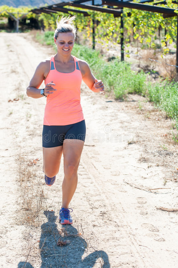女性连续triathlete 库存照片
