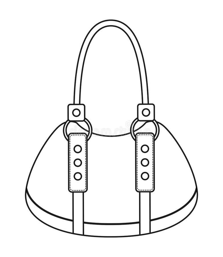 女性钱包被隔绝的象设计 皇族释放例证