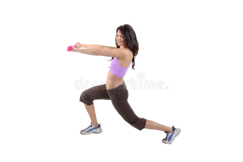女性锻炼 图库摄影