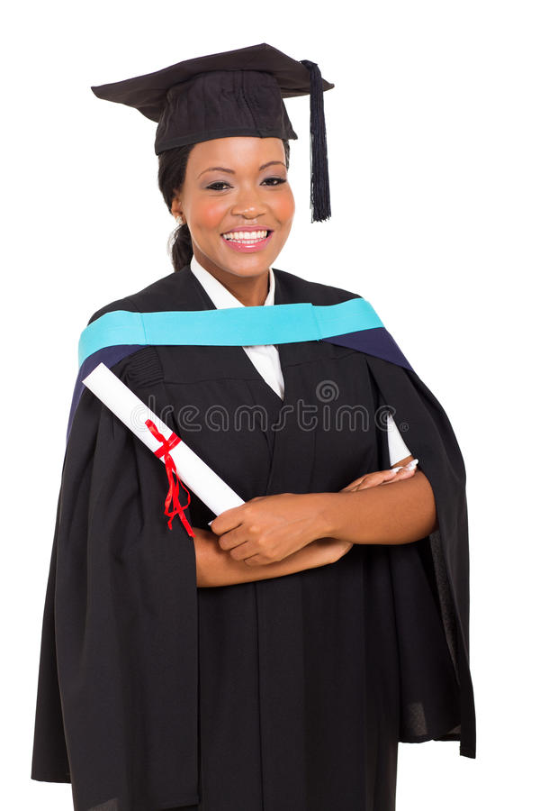 女性非洲人毕业生 库存照片