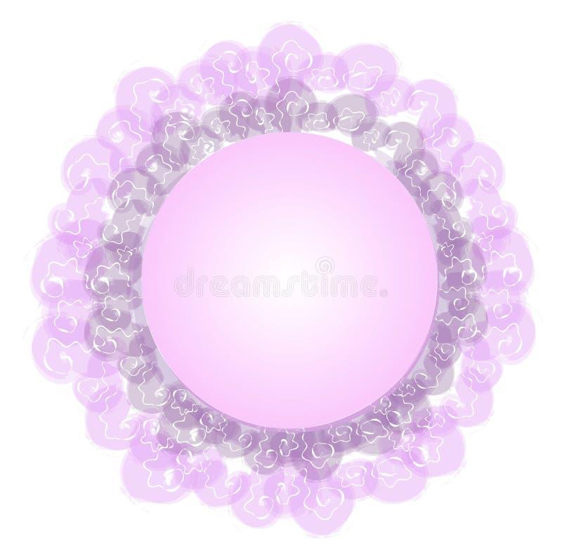 女性鞋带徽标紫色万维网 向量例证