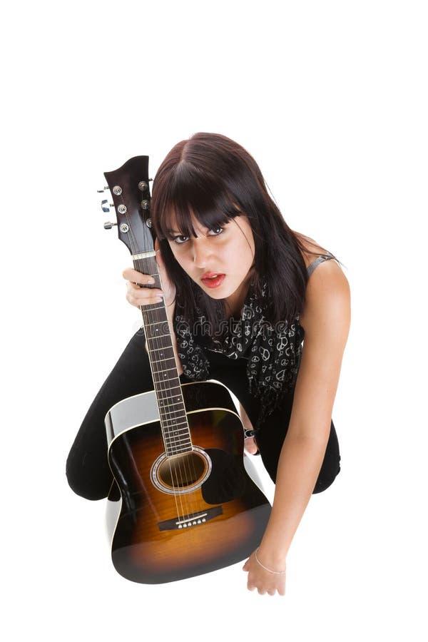 女性音乐家 免版税图库摄影