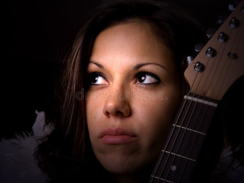 女性音乐家 免版税库存图片