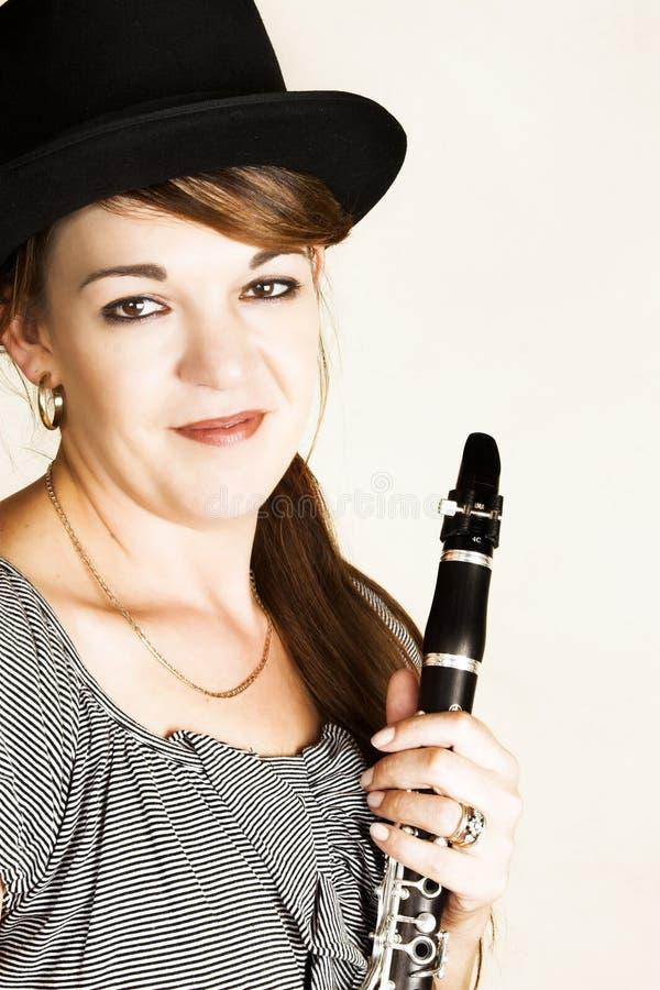女性音乐家 库存图片
