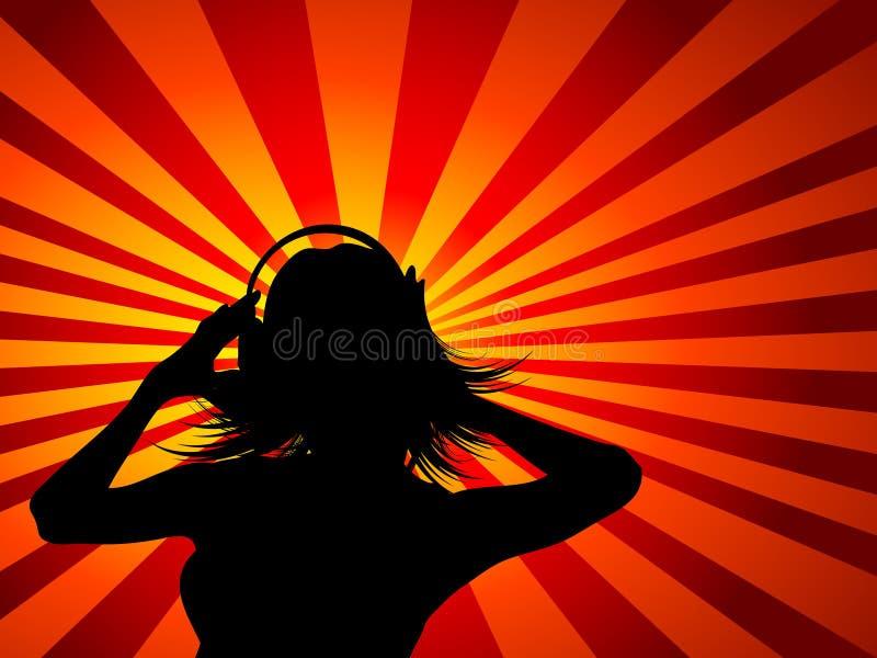 女性音乐 皇族释放例证