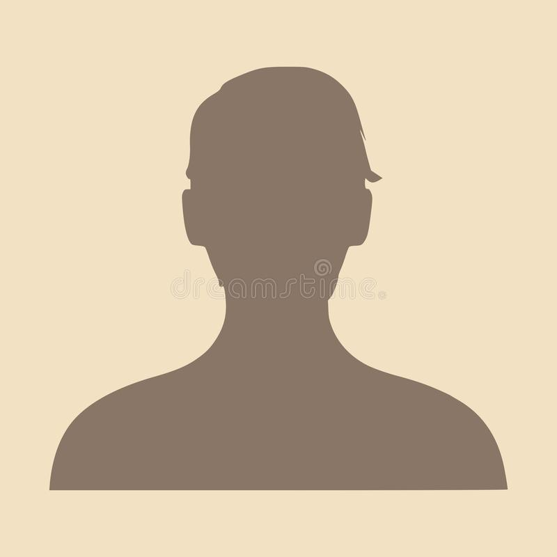 女性顶头剪影 面孔外形视图 皇族释放例证
