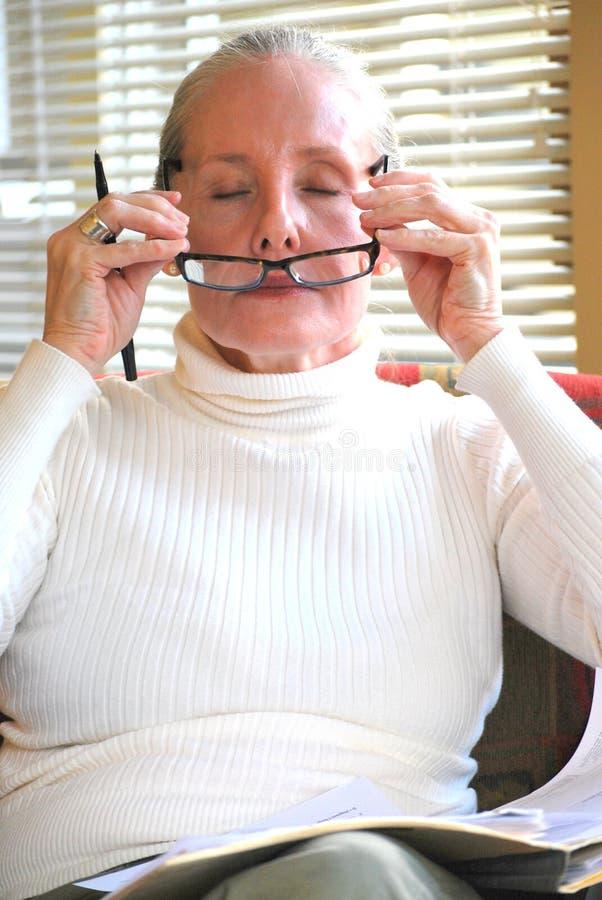 女性顾问在工作 图库摄影