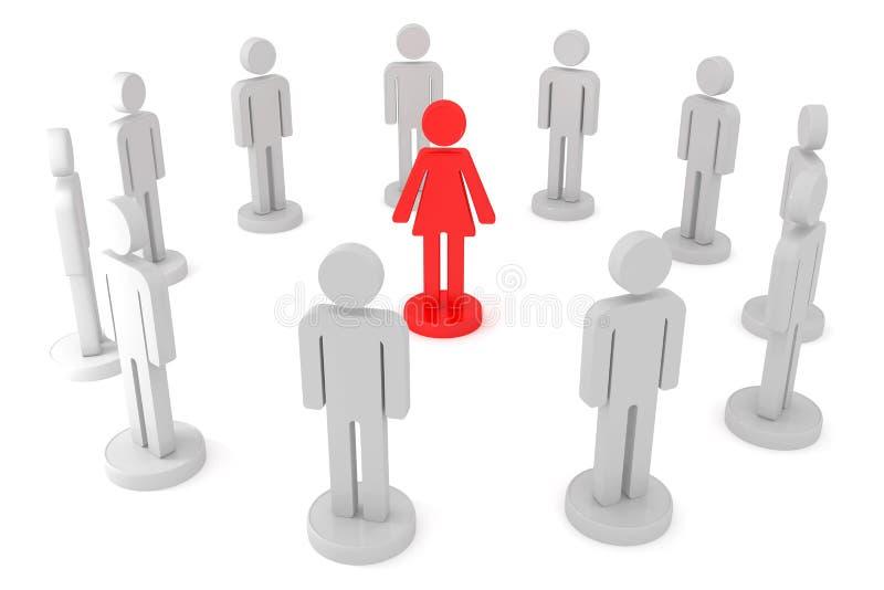 女性领导 皇族释放例证