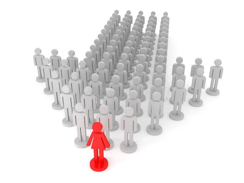 女性领导 库存例证