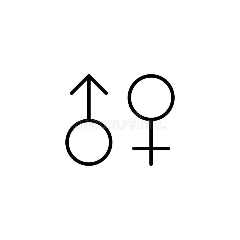 女性,男性,性别象 向量例证