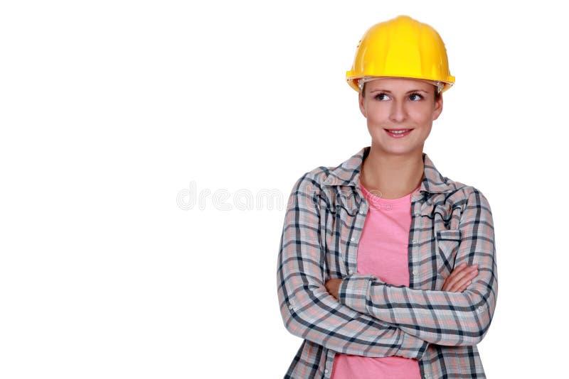 女性建造者 库存图片