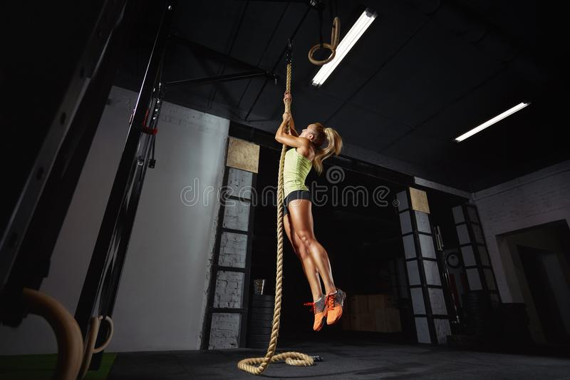 女性crossfit运动员行使 免版税库存照片