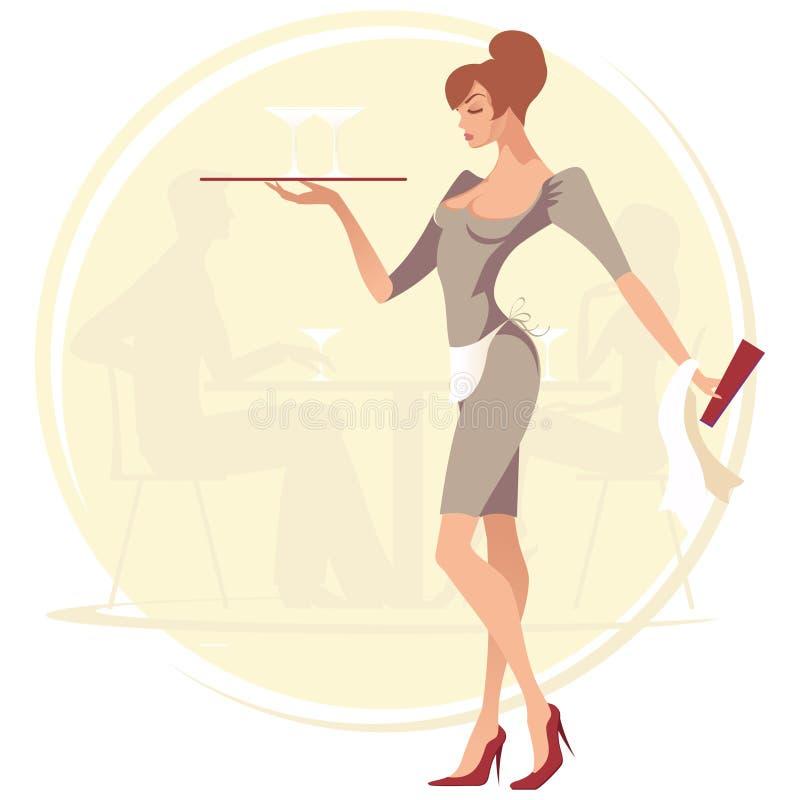 女服务员 库存例证