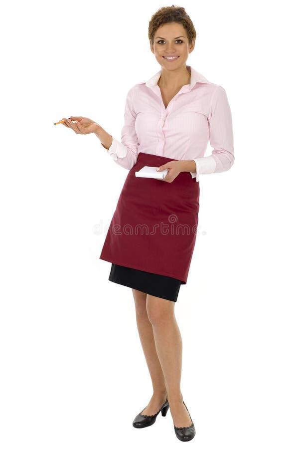女服务员 库存照片