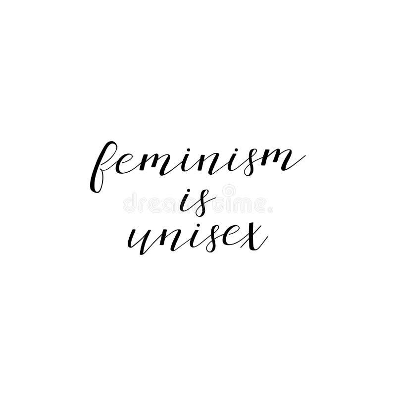 女权主义是男女皆宜的 女权主义行情,妇女诱导口号 字法 10个背景设计eps技术向量 向量例证