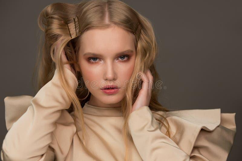 女模特画像 时尚 免版税图库摄影