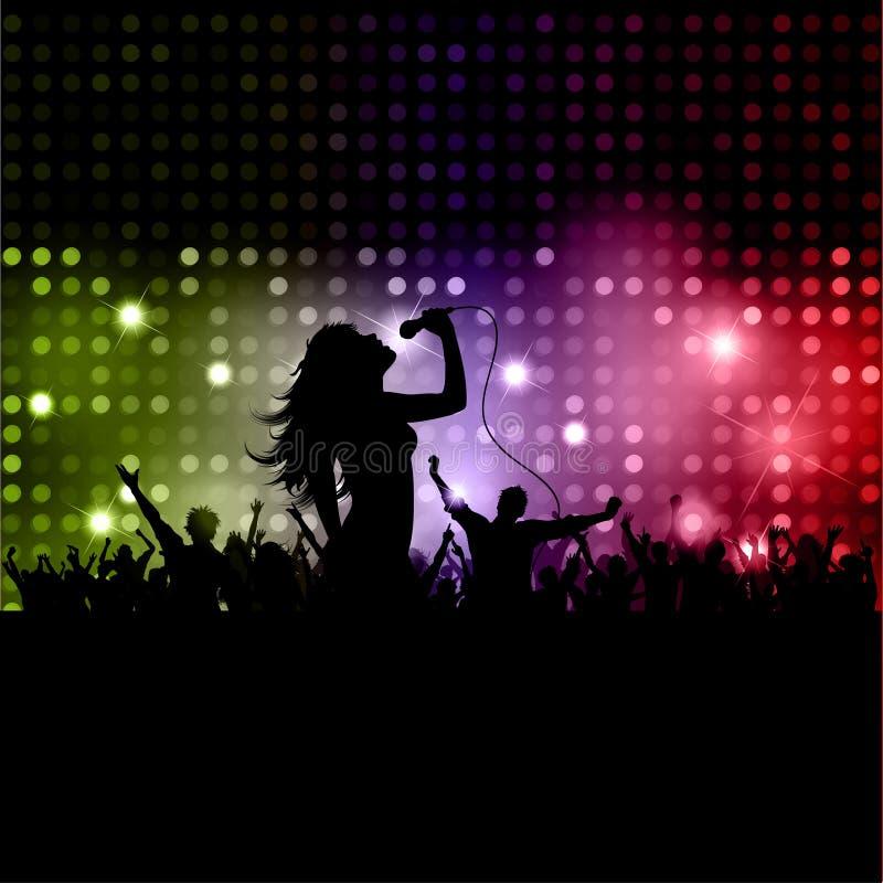 女歌手 向量例证