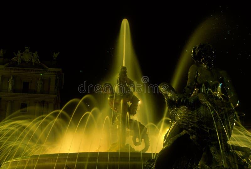 女游泳家的喷泉,罗马 图库摄影