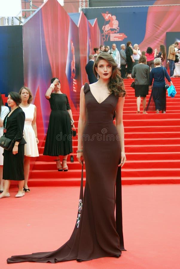 女演员莫斯科电影节的安娜Chipovskaya 库存照片