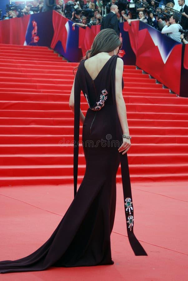 女演员莫斯科电影节的安娜Chipovskaya 免版税库存图片