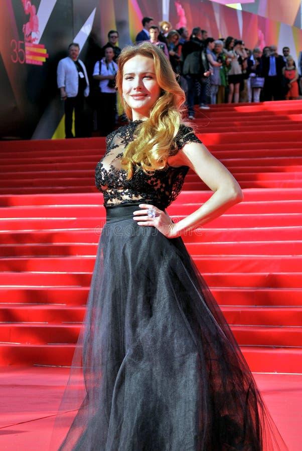 女演员莫斯科电影节的安娜Gorshkova 免版税库存图片