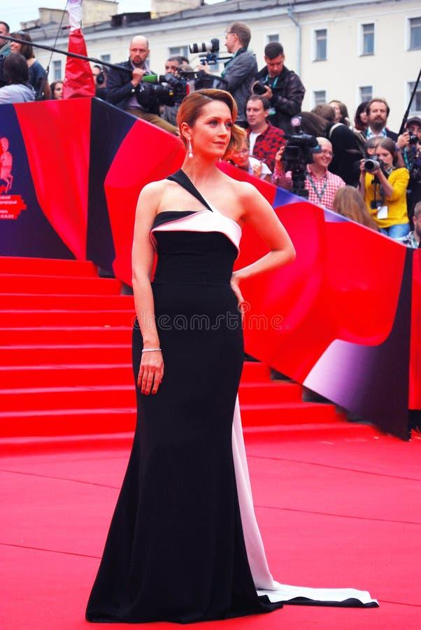 女演员莫斯科电影节的维多利亚Isakova 库存照片