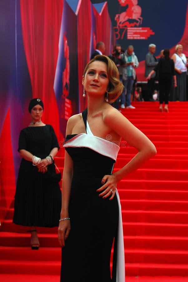 女演员莫斯科电影节的维多利亚Isakova 免版税库存照片