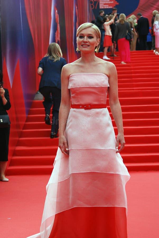 女演员莫斯科电影节的维多利亚Tolstoganova 图库摄影
