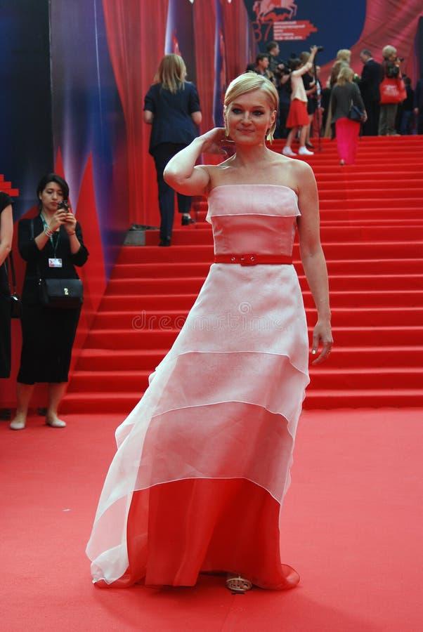 女演员莫斯科电影节的维多利亚Tolstoganova 库存图片