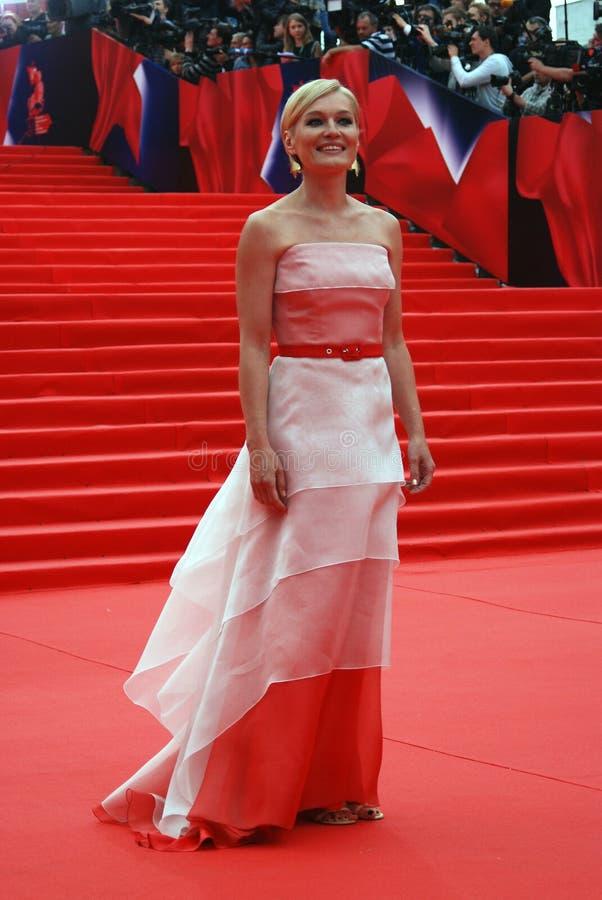 女演员莫斯科电影节的维多利亚Tolstoganova 免版税图库摄影